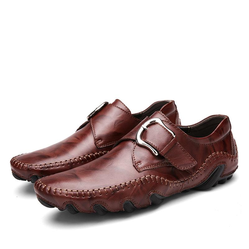 Autumn Style Soft Moccasins Genuine Leather Men's Loafers