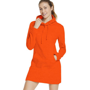 Women's Hoodie Mini Dress with Front Slim Fit Pockets