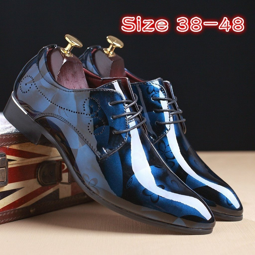 Men's Flat Leather Oxford Shoes