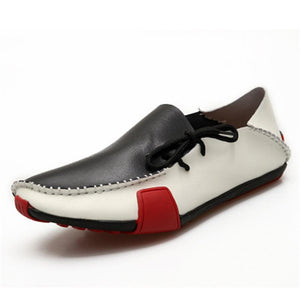 Men Genuine Leather Moccasins Style Casual Shoes