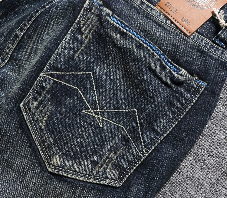 Men's Slim Fit Classical Denim Jeans