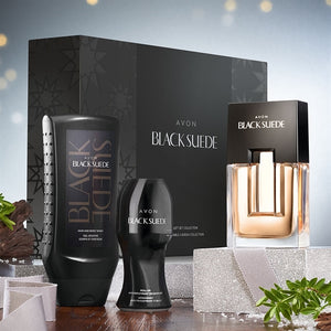 Black Suede Eau de Toilette Fragrance Gift Set for Men