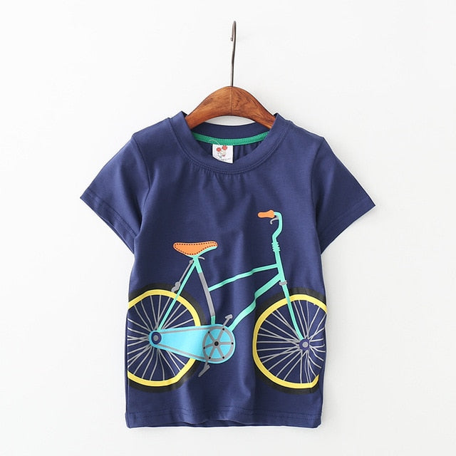 Summer Boys Short Sleeve Cotton T-Shirt Top