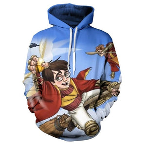 Gorgeous Autumn Harry Potter 3D Print Hoodie  Sweatshirt