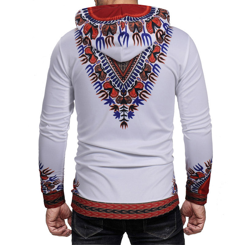 Mens Hip Hop Dashiki Africa Pullover Top