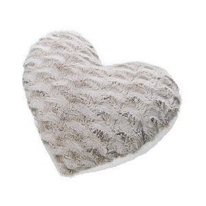 Reversible Faux Fur Heart Shaped Cushion