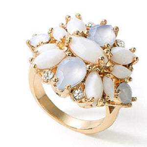 Floral Clusters Ring - Scarlet Bloom