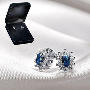 Stunning Genuine Sapphire Stud Earrings - Scarlet Bloom