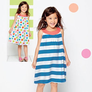 Girls Spots and Stripes Reversible Dress - KGVP Clothescessories