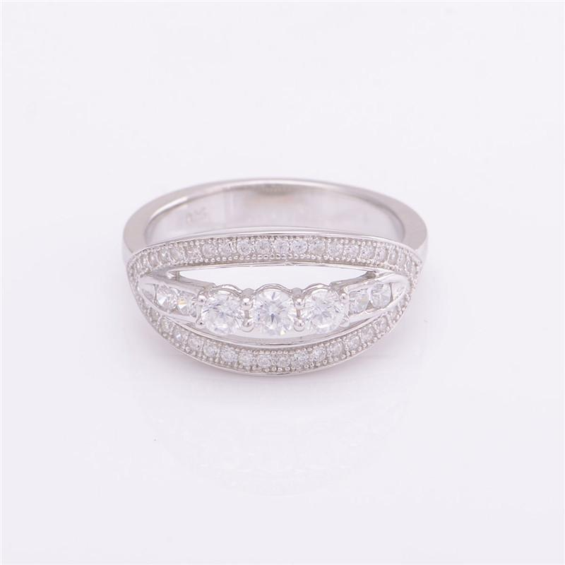 925 Sterling Silver Crystal Ring for Women