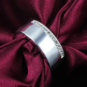 Unisex 925 Sterling Silver Geometric Unique Style Wedding Ring Band