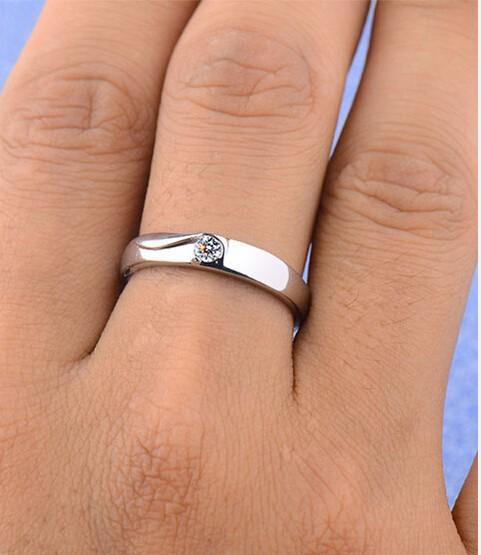 Men's 925 Sterling Silver Wedding Engagement Rings