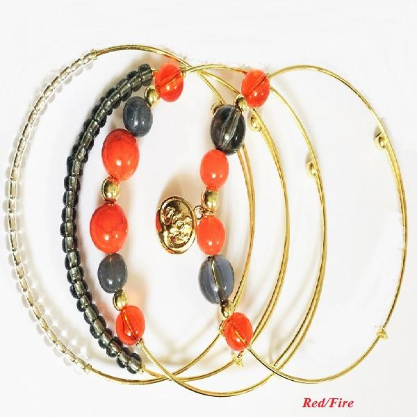 Hortence Sentiment Bracelet - Scarlet Bloom
