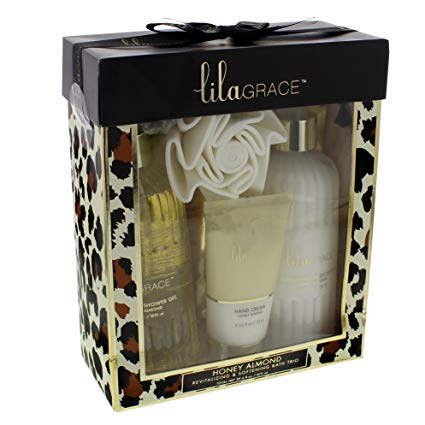 Lila Grace Honey Almond Bath Trio Gift Set