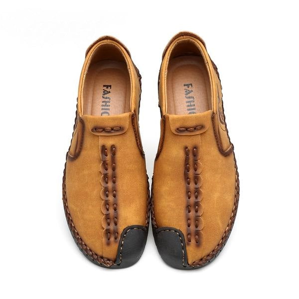 Men's Casual Split Leather Loafer Shoes