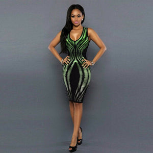 Bandage Cocktail Sleeveless Bodycon Dress