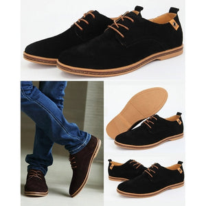 European Style Men's Oxfords Genuine Leather Casual Suede Loafer Shoes