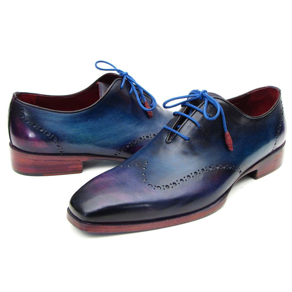 Paul Parkman Men's Blue and Purple Wingtip Oxfords Shoes