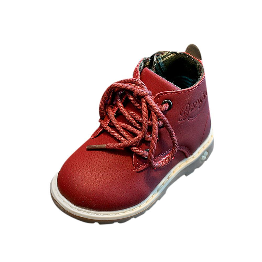 Children Fashion Lace Up Martin Sneaker Boots