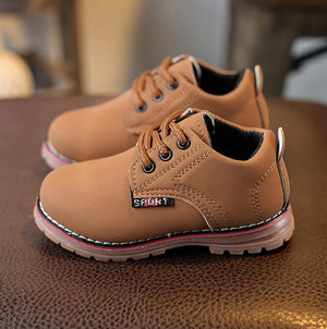Unisex Kid's Martin Sneaker Casual Lace Up Boots