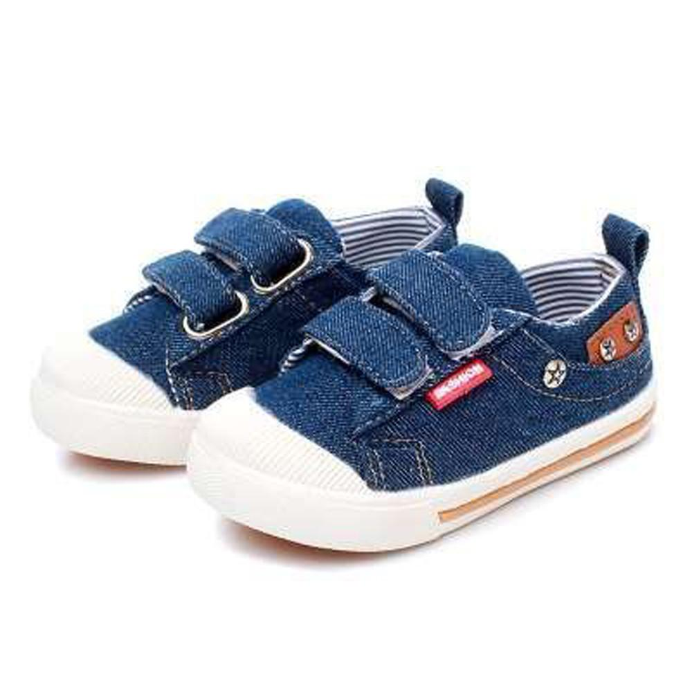 Comfy Kids Denim Jeans Canvas Sneakers - Scarlet Bloom