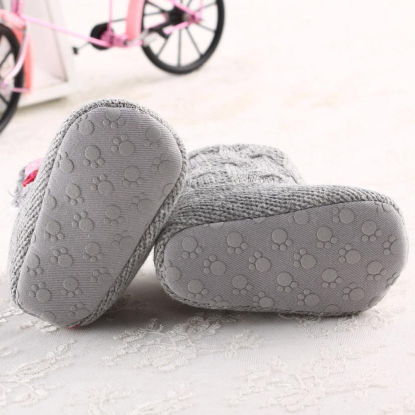 Children Soft Sole Warm Crib Button Cotton Boot