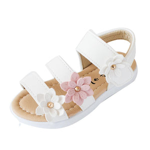 Girls Big Flower Fashion Sandals - Scarlet Bloom