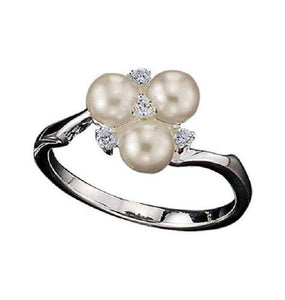 Sterling Silver Cluster Pearl Ring - Scarlet Bloom