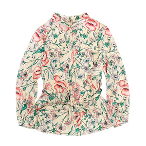 Women's Season Flower Print Blouse