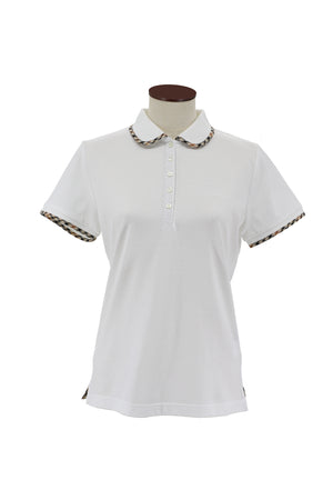 Cotton Polo with Classic House Check Side