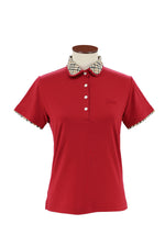 Cotton Polo With House Check Collar
