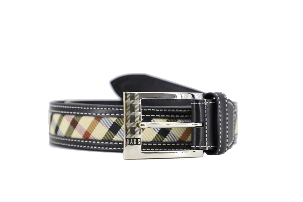 Leather Belt with H/C Cotton Style