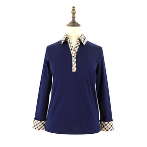 Womens Knit Polo 38 / Navy Ladies