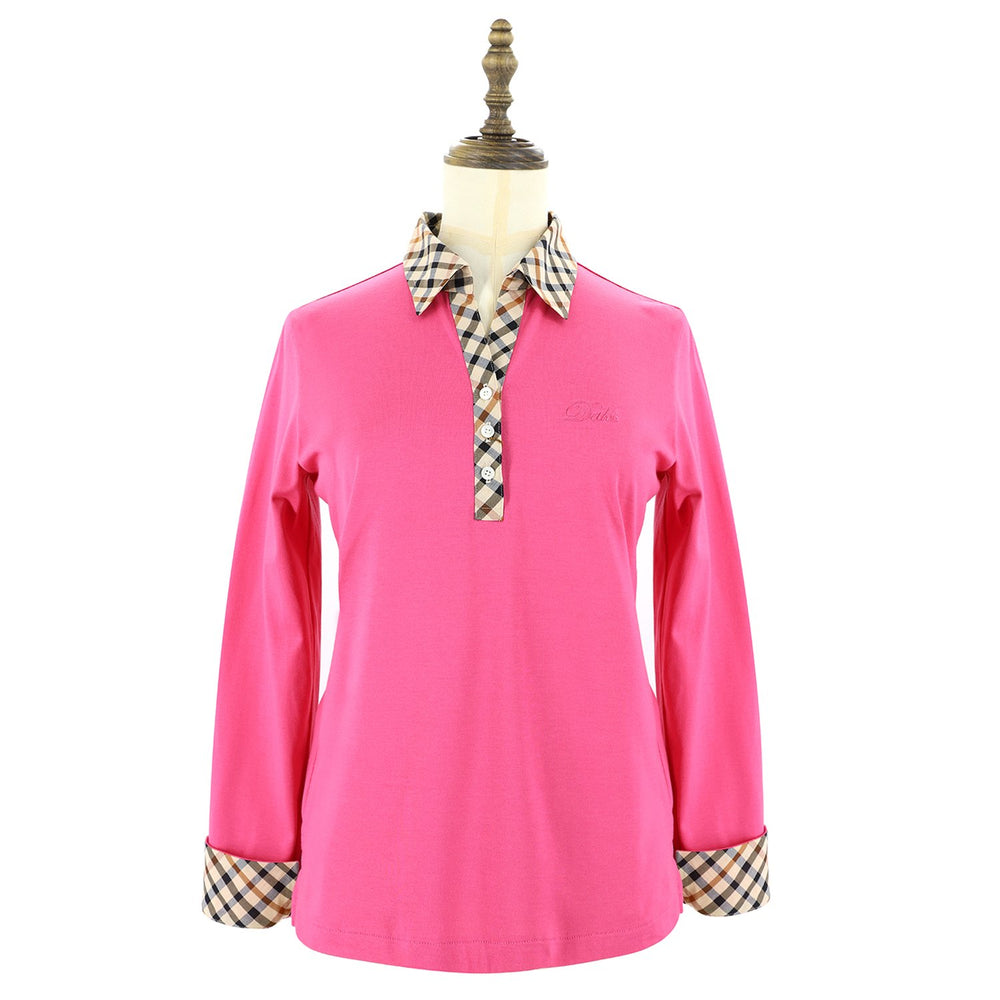 Womens Knit Polo 38 / Pink Ladies