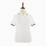 Womens Knit Polo Shirt Ladies