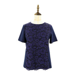 Womens Lace Knit Tee Ladies