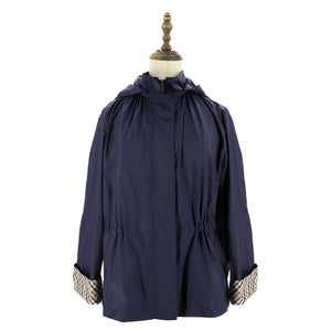 Womens Woven Blouson 38 / Navy Ladies