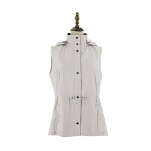 Womens Woven Vest 38 / Beige Ladies