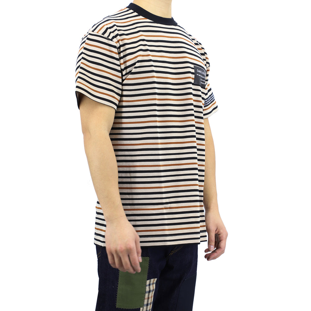 DAKS 10 Horizontal Stripes Knit Tee