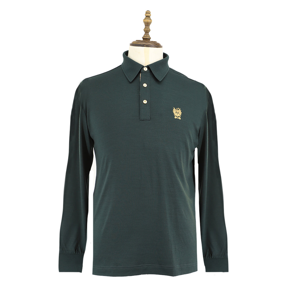 Men's Wool Knit Polo