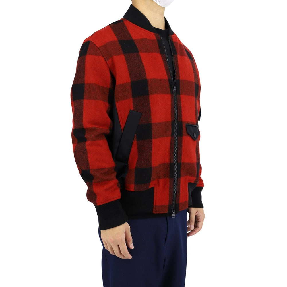 Daks 10 British Check Ma-1 Style Jacket Mens