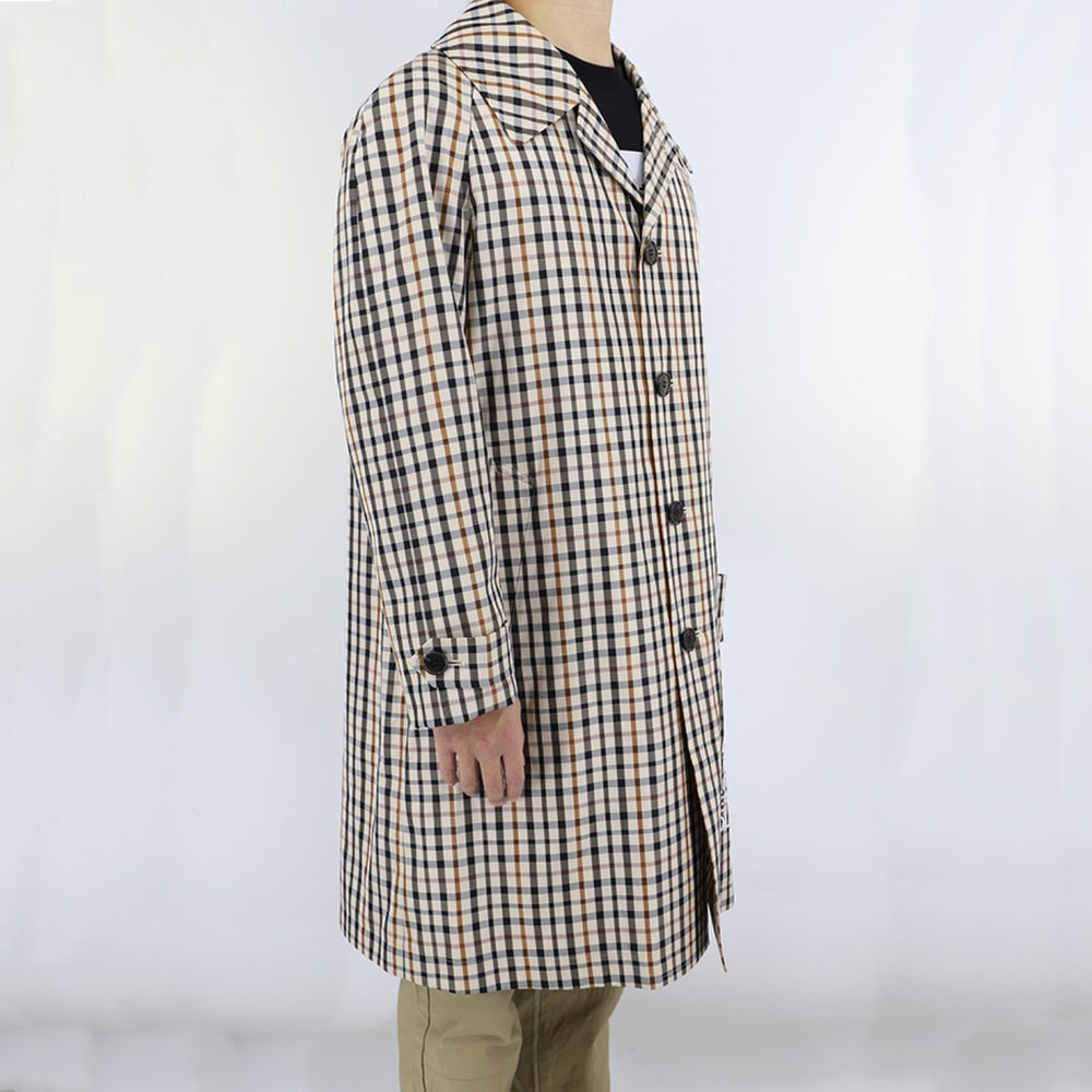 Daks 10 House Check Coat Mens