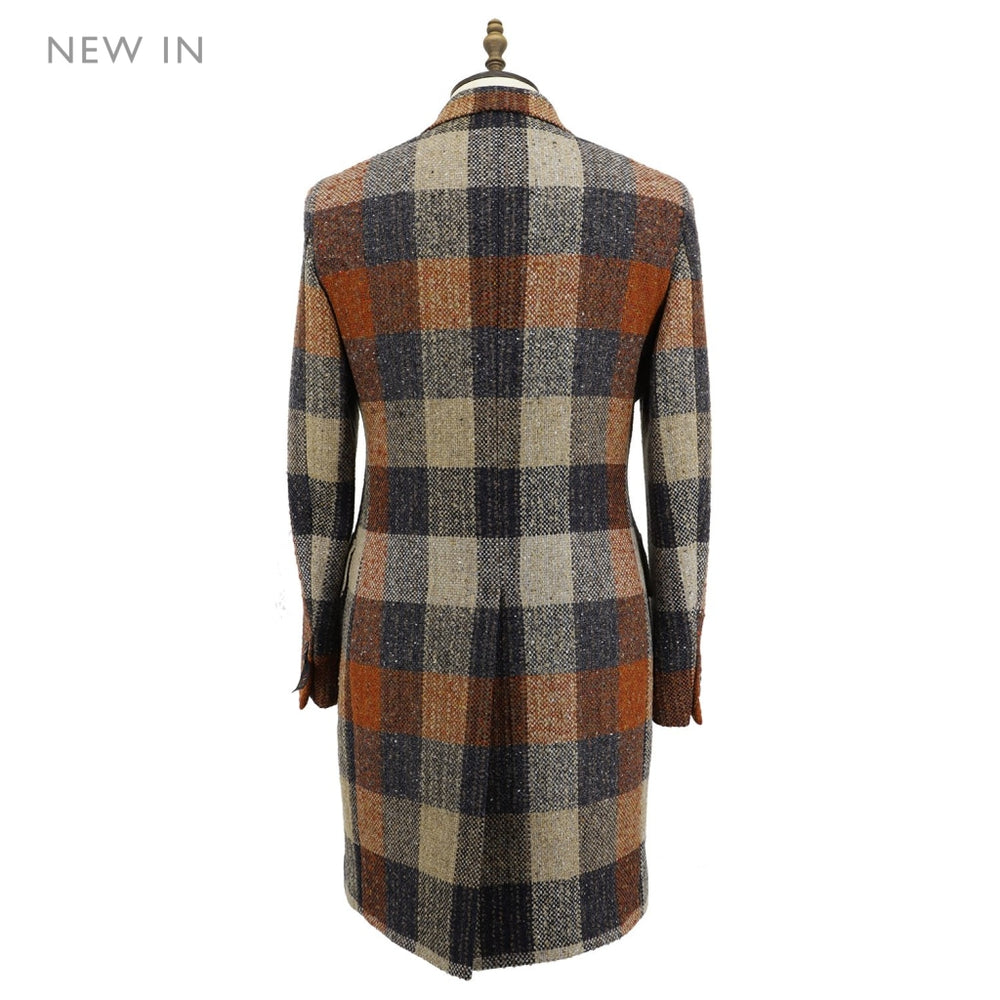 Mens Donegal Check Woven Coat