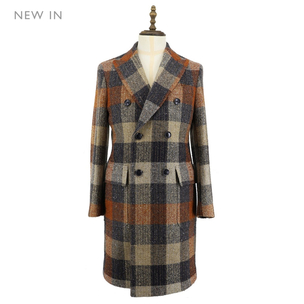 Men's Donegal Check Woven Coat