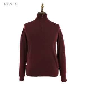 Mens Wool Sweater 48 / Burgundy Ladies