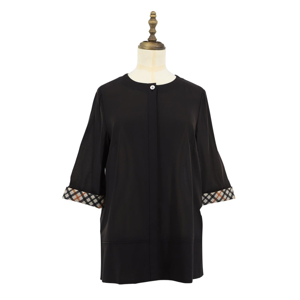 Womens Cotton Woven Blouse 38 / Black Ladies