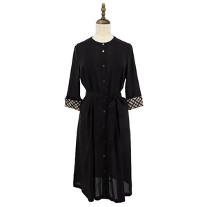 Womens Cotton Woven One-Piece 38 / Black Ladies
