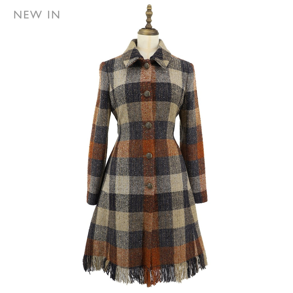 Women's Donegal Check Woven Coat
