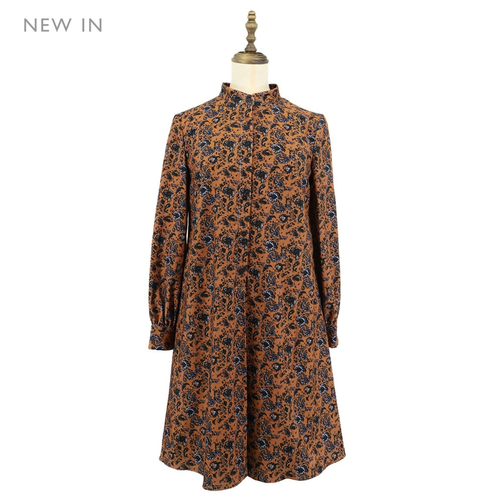 Women's Paisley Pattern Corduroy one-piece