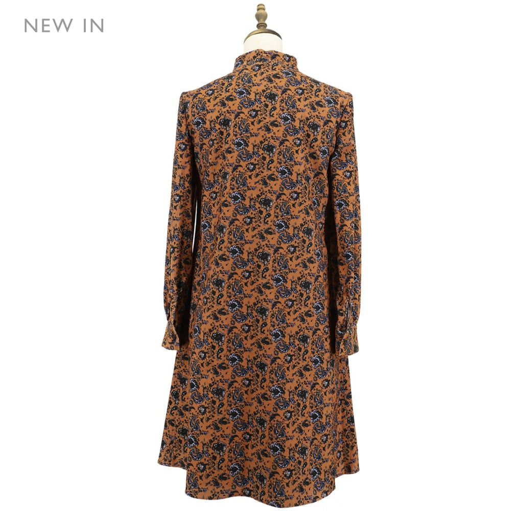Womens Paisley Pattern Corduroy One-Piece Ladies